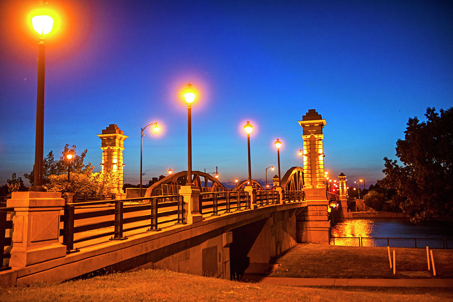 Ford Street Bridge at Dusk Rochester NY by Toby McGuire