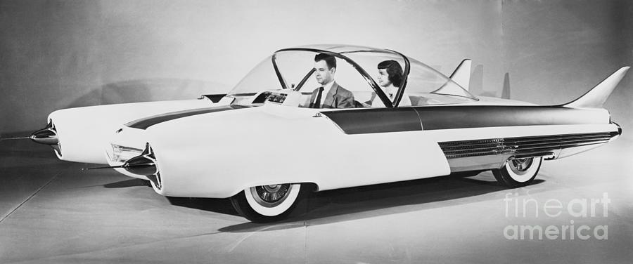 Fords Future Experimental Car Photograph by Bettmann