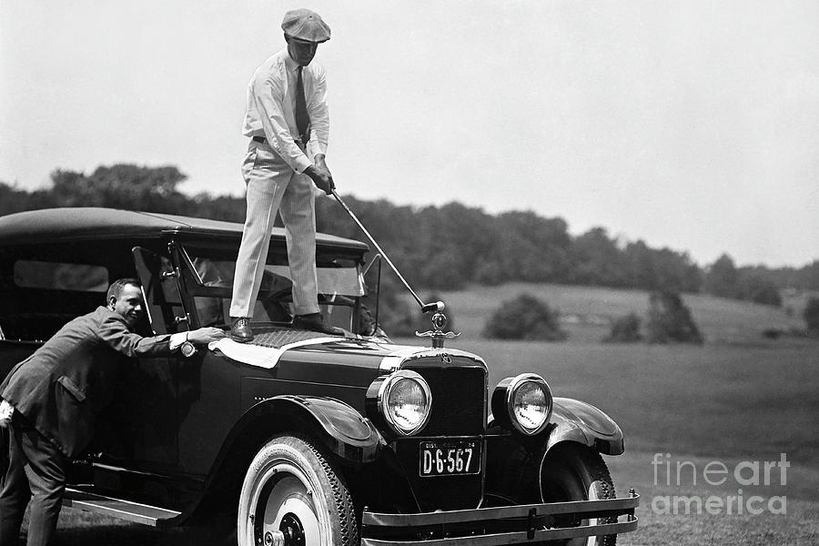 Vintage Golf Photograph - Fore by Jon Neidert