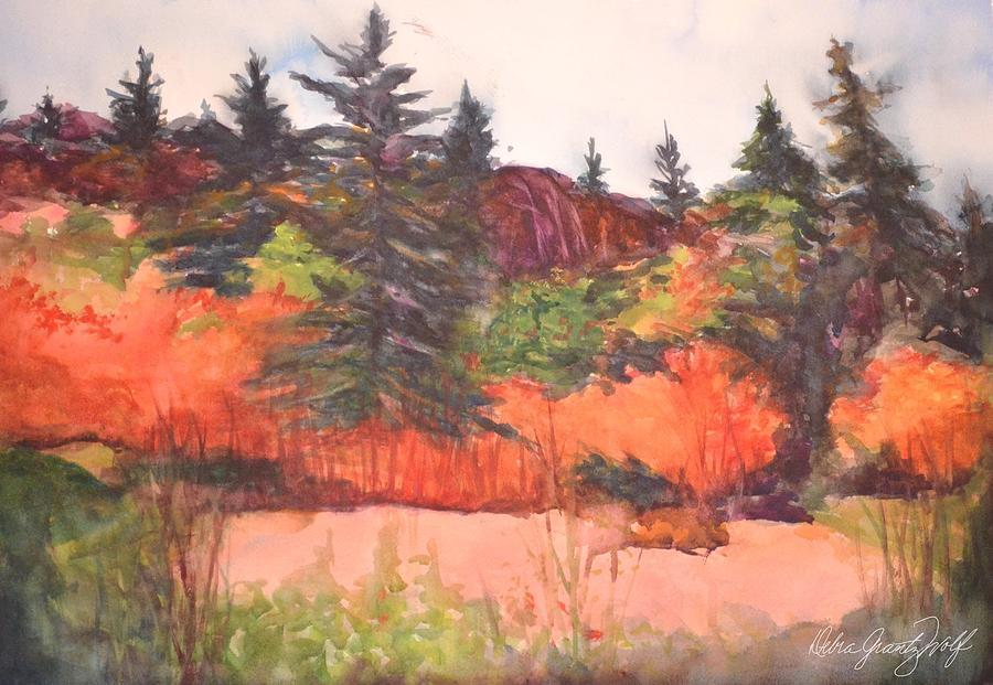 Pine-ing Painting by Debra Grantz Wolf