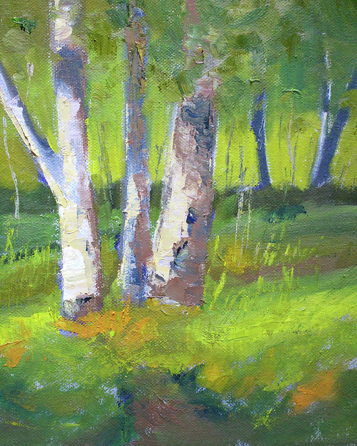 Forest Scene Painting - Forest Color Landscape by Nancy Merkle