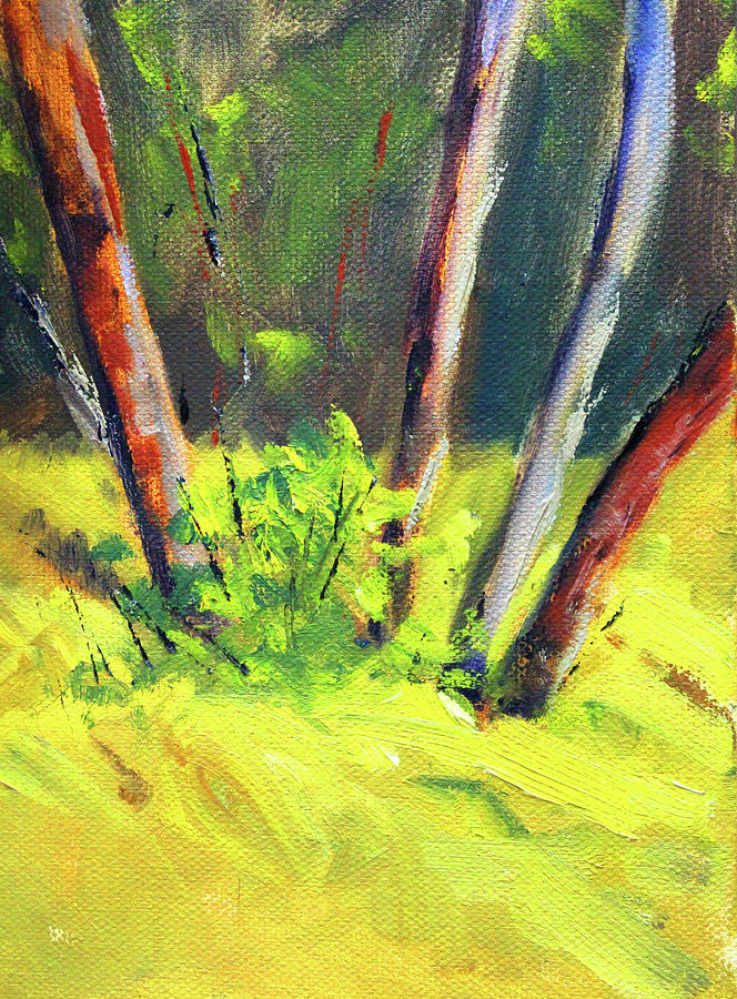 Forest Copse by Nancy Merkle