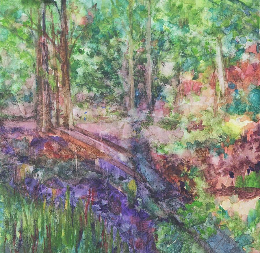 Backyard Beauties Painting by Debra Grantz Wolf