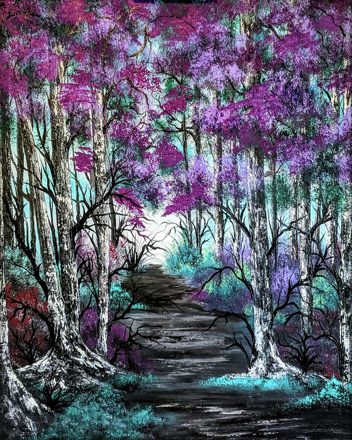 Landscape Painting - Forest Fantasy by Teri Lindley