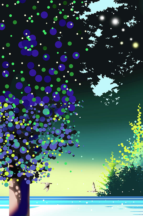 Forest Digital Art - Forest Morning by Ryuji Kawano