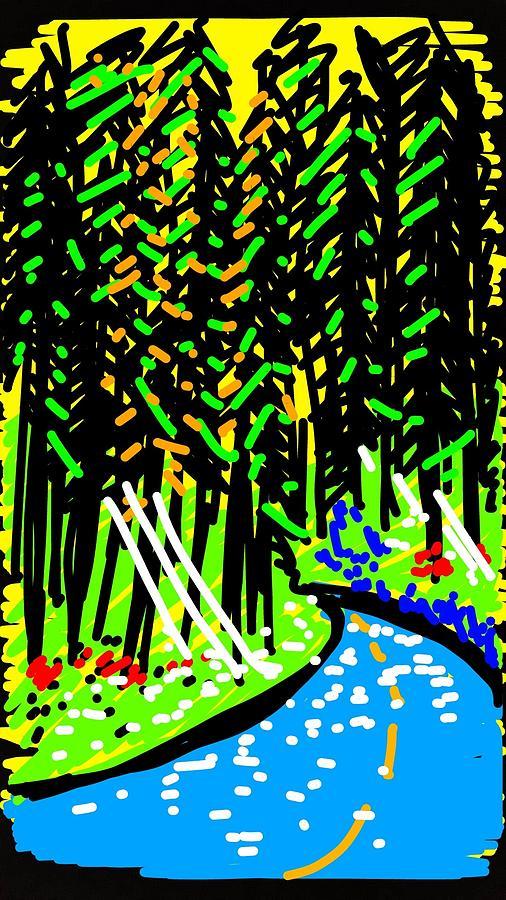Forest Digital Art - Forest Path by Madeline Dillner