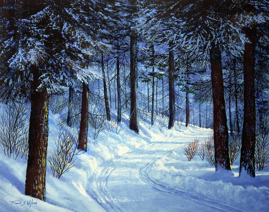 Landscape Painting - Forest Road by Frank Wilson