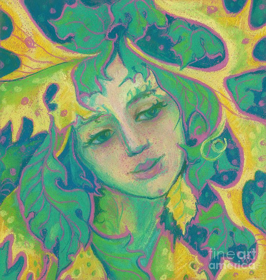 Pop Surrealism Painting - Forest Spirit by Julia Khoroshikh