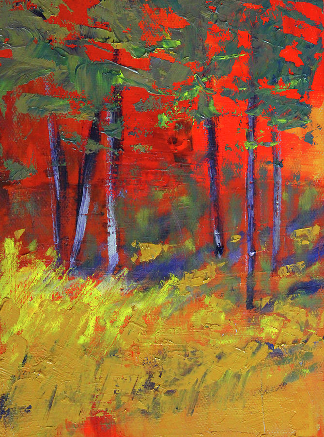 Forest Sunset by Nancy Merkle