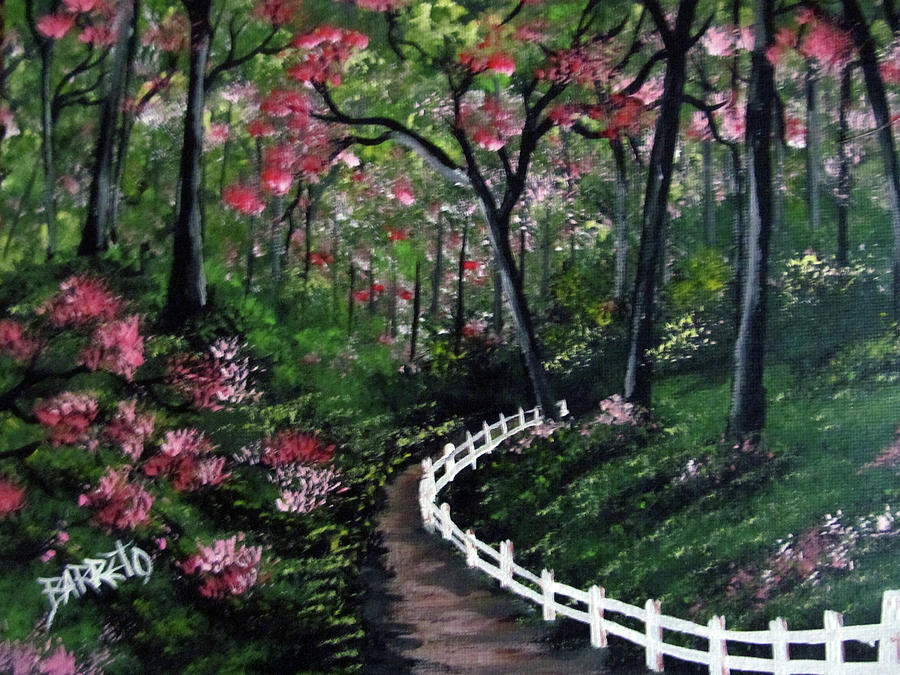 Forest With Flowers by Gloria E Barreto-Rodriguez