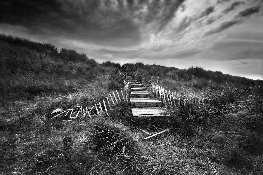 Cumbria Photograph - Forgotten Steps in Mono by John Frid