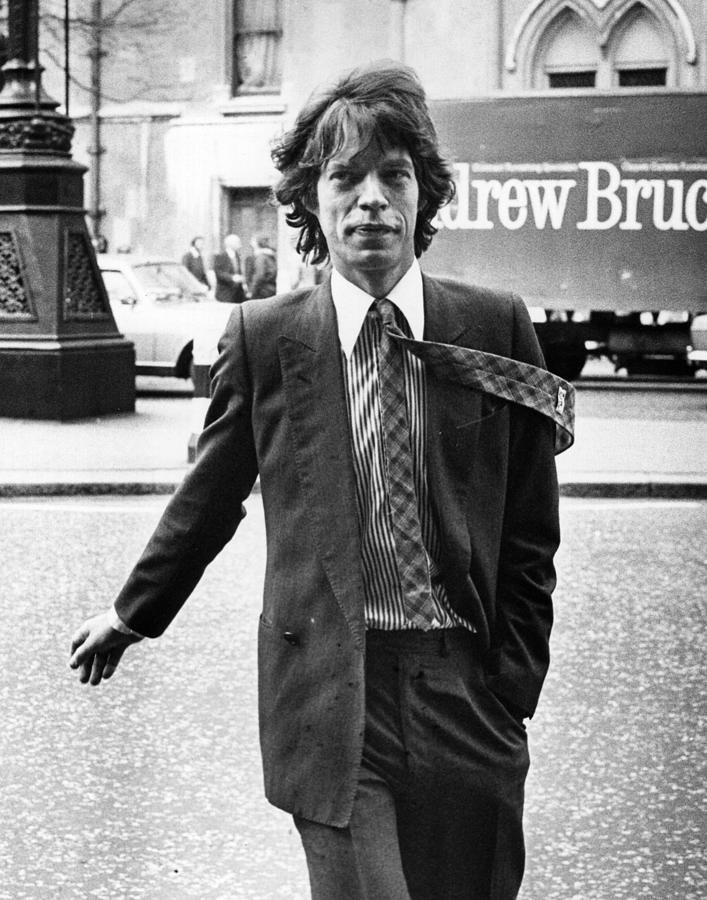 Formal Mick Jagger Photograph by Frank Tewkesbury