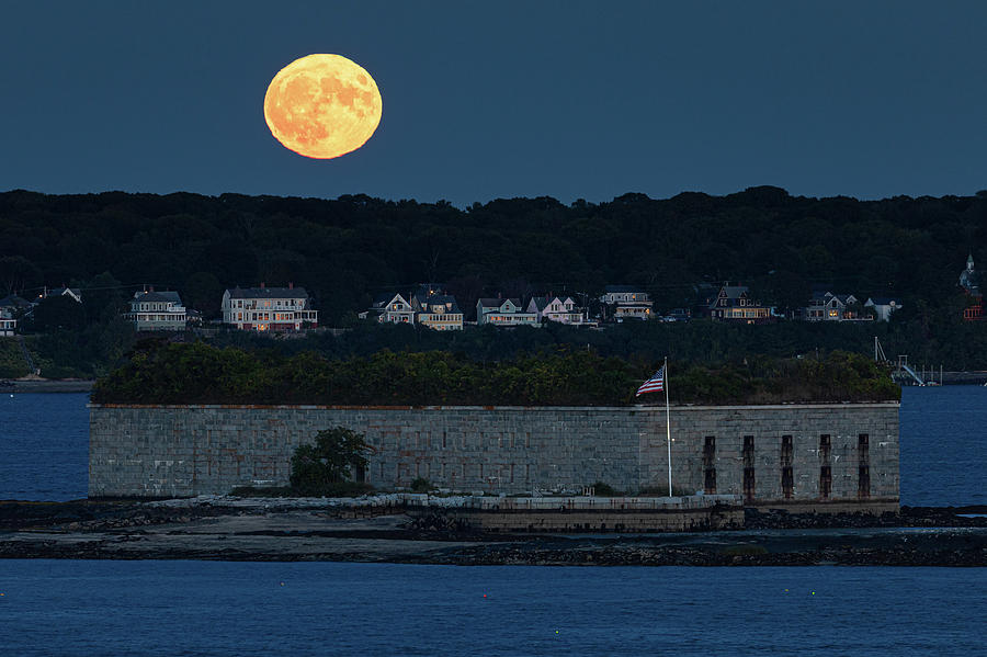 Fort Gorges Moon by Colin Chase