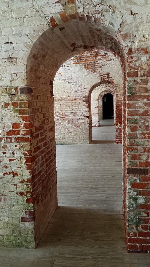Fort Macon Archways 5 by Paddy Shaffer