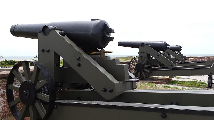 Fort Macon Cannons 3 by Paddy Shaffer