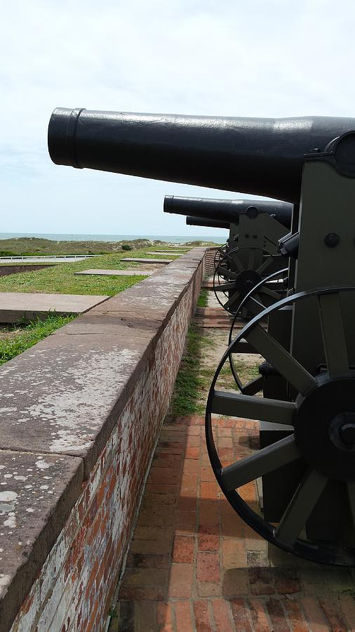 Fort Macon Cannons 4 by Paddy Shaffer