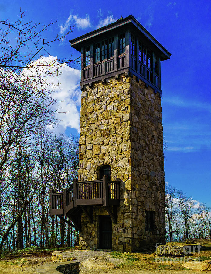 Fort Mountain Fire Tower by Nick Zelinsky