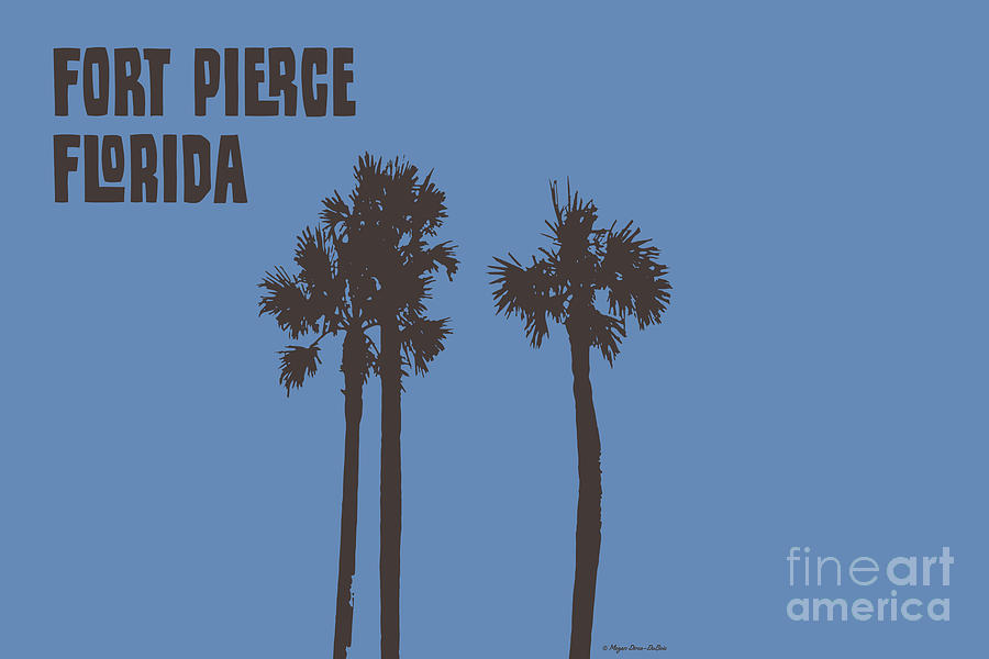 Fort Pierce Palm Trees horizontal by Megan Dirsa-DuBois