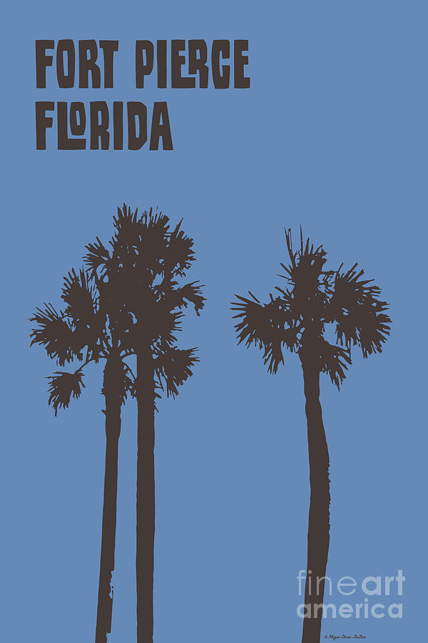 Fort Pierce Palm Trees vertical by Megan Dirsa-DuBois