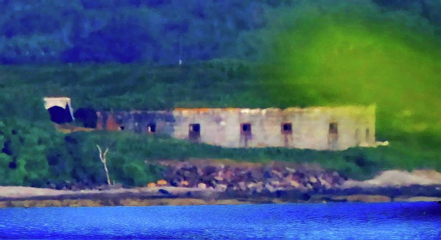 Fort Scammell-historical Landmark-portland Maine Mixed Media