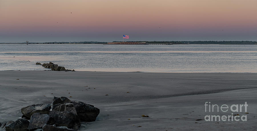 Fort Sumter Salty Waters Photograph