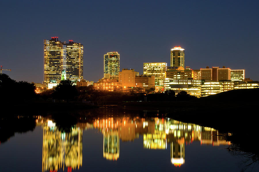 Fort Worth Downtown Evening Skyline Photograph by Davel5957