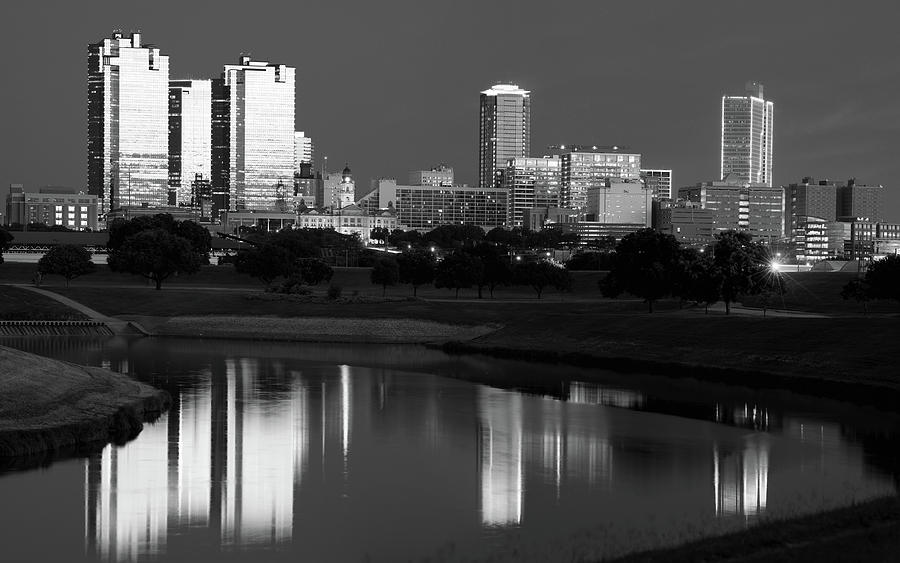 Fort Worth Monochrome Skyline 061419 by Rospotte Photography