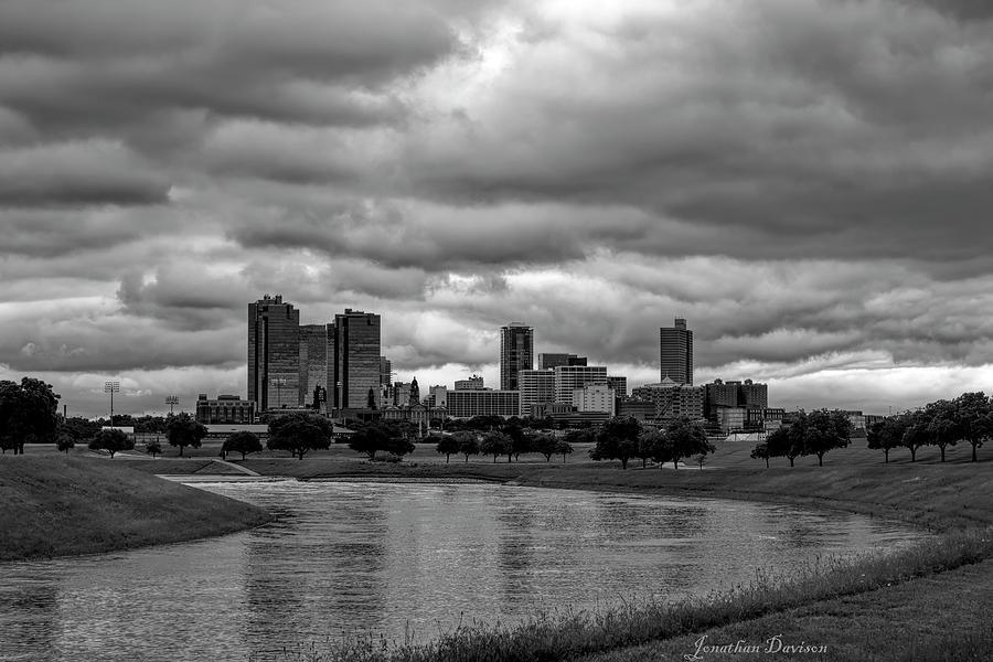 Fort Worth Moody Skyline by Jonathan Davison