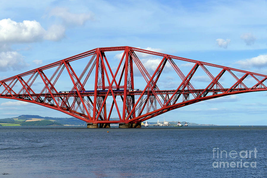 Forth Bridge Train Crossing by Phil Banks