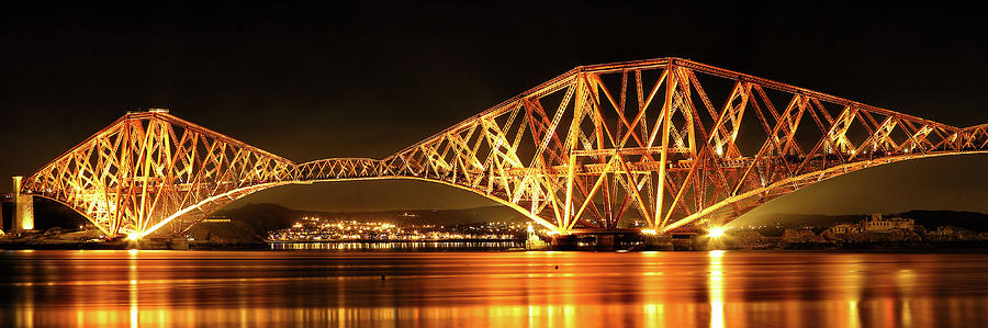 Forth Railway Bridge - Night by Grant Glendinning