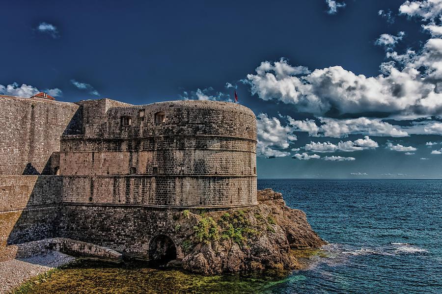 Fortification in Dubrovnik by Darryl Brooks