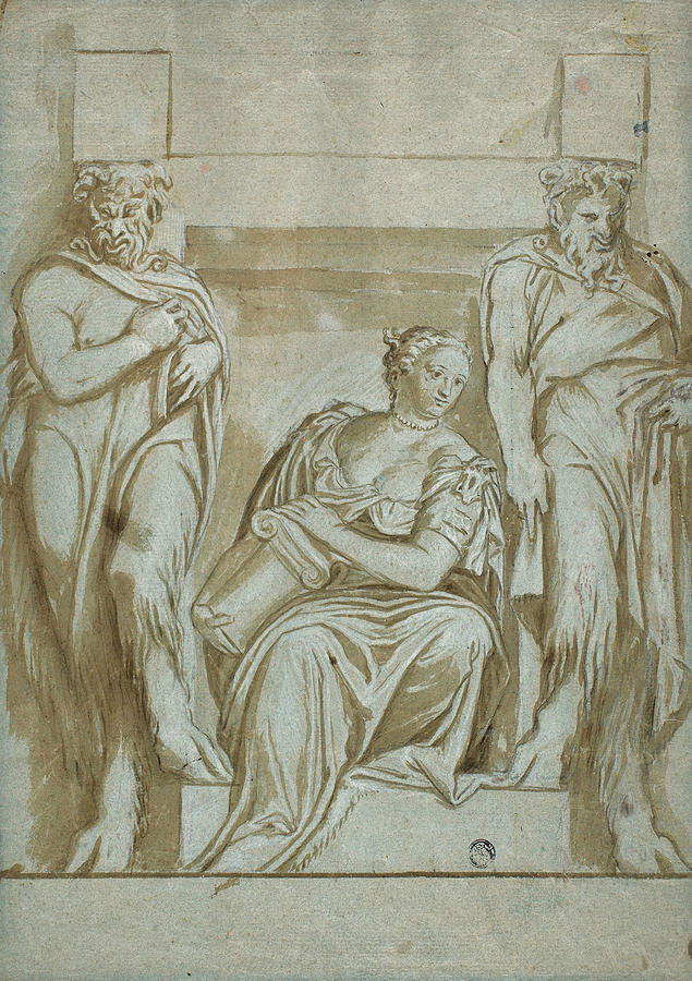 Fortitude Flanked by Two Satyrs by Paolo Veronese