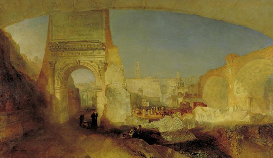 Forum Romanum  by Joseph Mallord William Turner