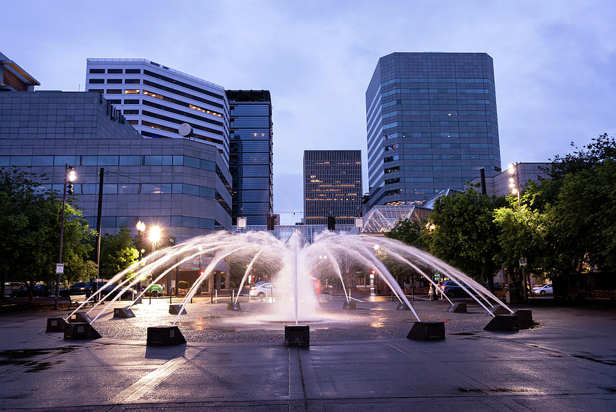 Fountain Light by Steven Clark