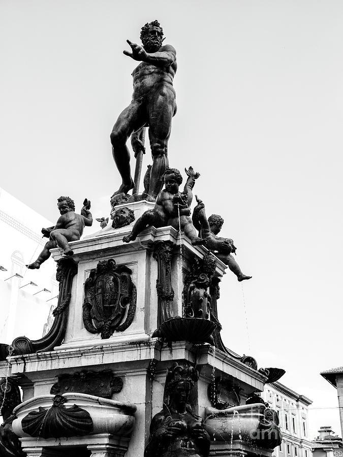 Fountain of Neptune Bologna by John Rizzuto