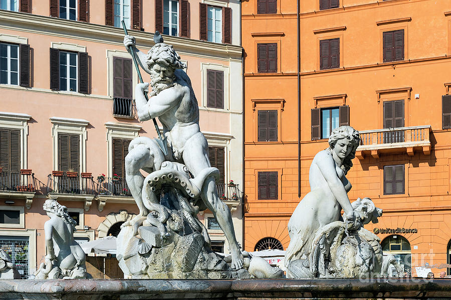 Europe Photograph - Fountain Of Neptune by John Greim