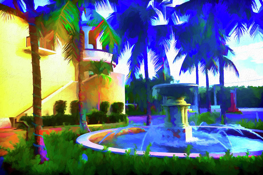 Fountain painting Series 8244 by Carlos Diaz