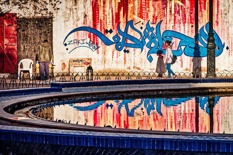 Fountain Reflections - Morocco by Stuart Litoff