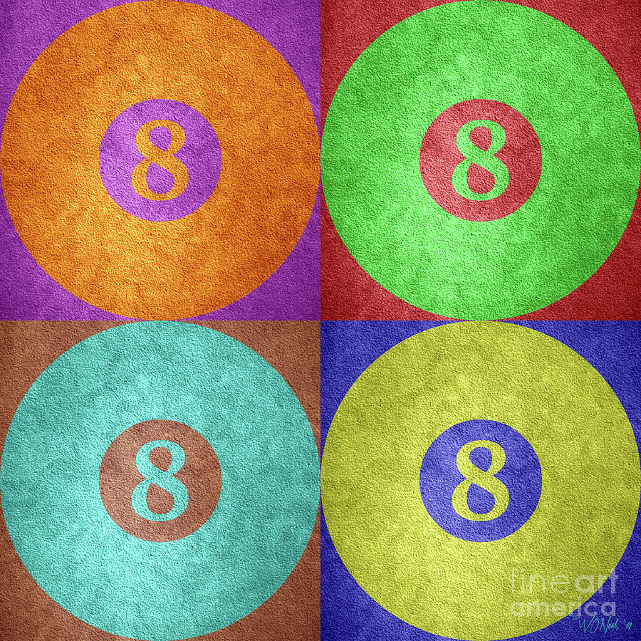 Four 8 Balls by Walter Neal