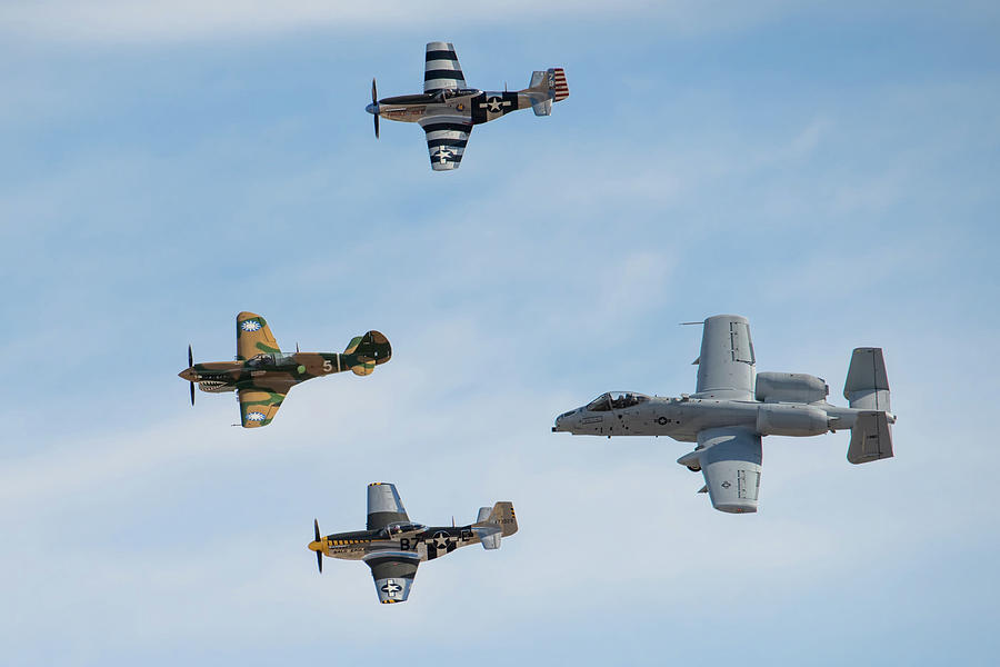 Four Aircraft Heritage Flight by Dan McManus