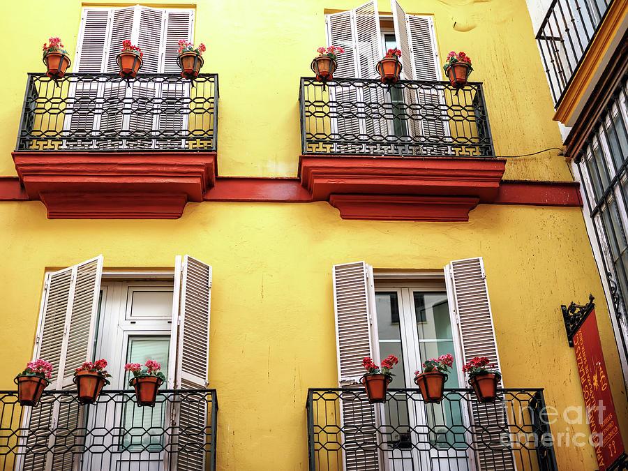 Four Balconies in Seville by John Rizzuto