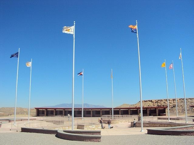 Four Corners Monument by Mozelle Martin