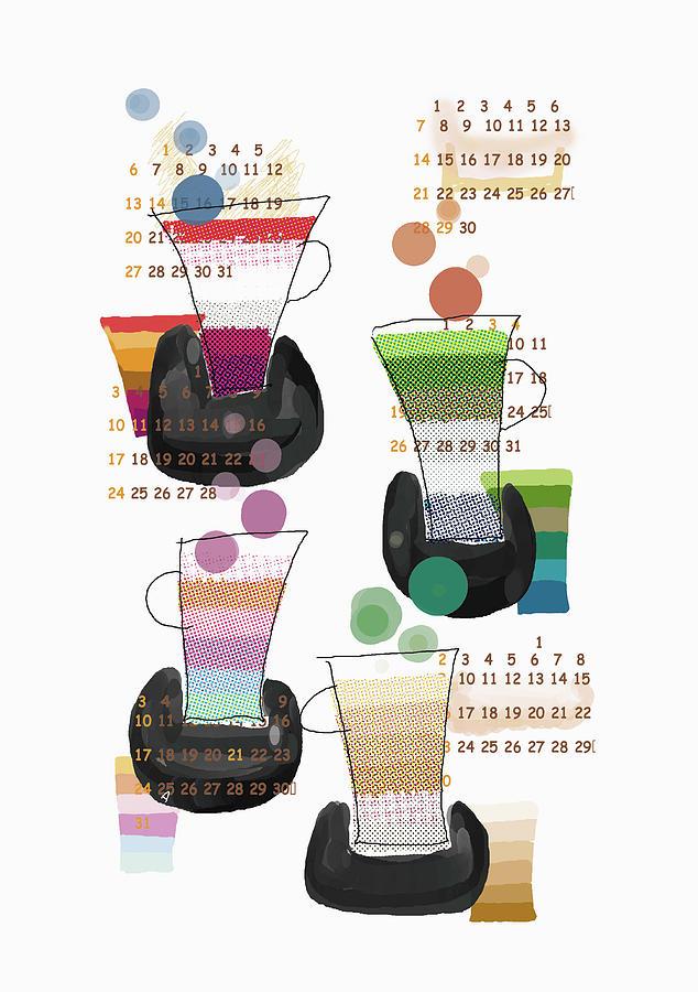 Four Cups Digital Art by Daj