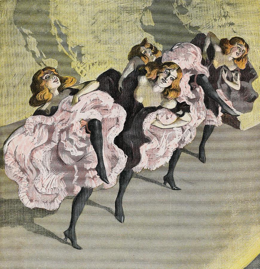 Four Girls Dancing Cancan Photograph by Bettmann