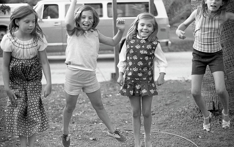 Four Girls, Jumping, 1972 by Jeremy Butler