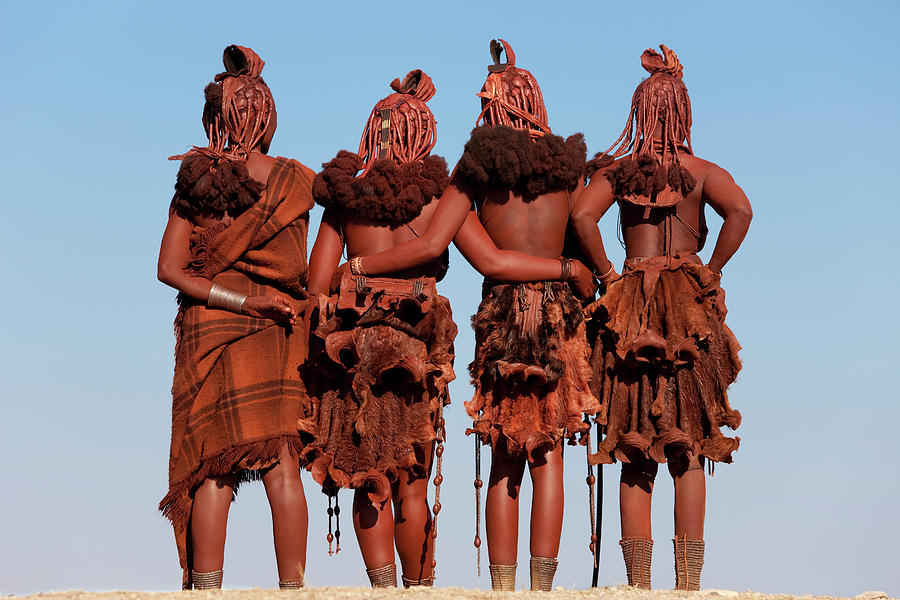 Four Himba Women, Namibia, Africa Photograph by Peter Adams