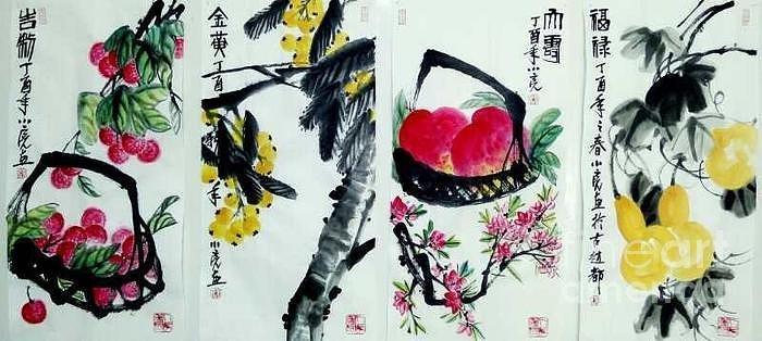 Four Kinds of Vegis by LI LIANG