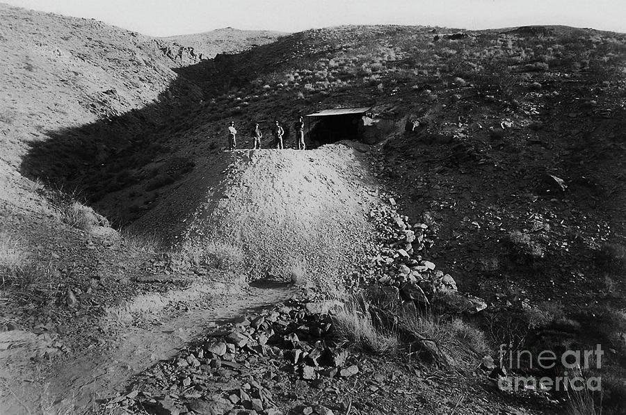 Four Men at the Pitaluma Mine - circa 1897 by Doc Braham