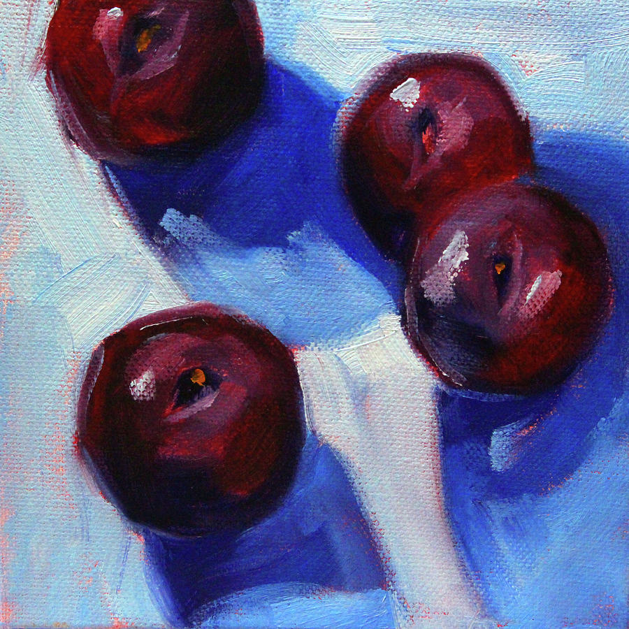 Four Plums by Nancy Merkle