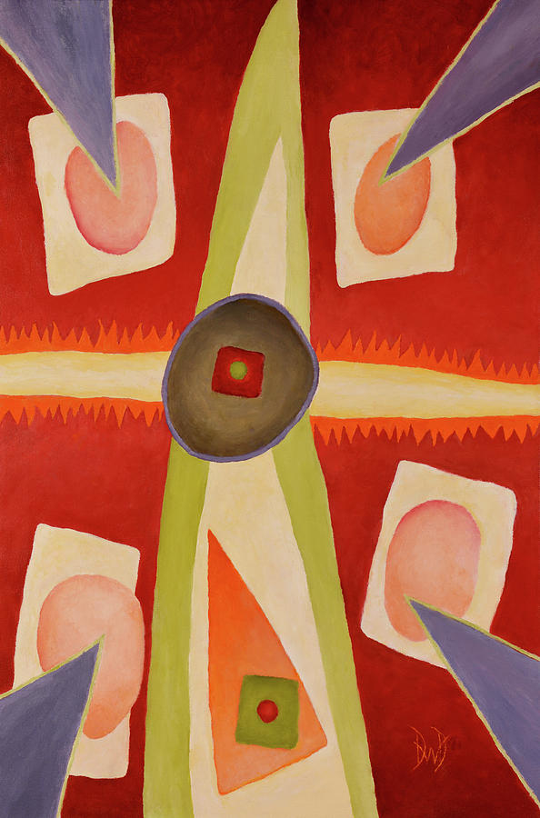 Abstract Paintings Painting - Four Points Less Known by David Douthat